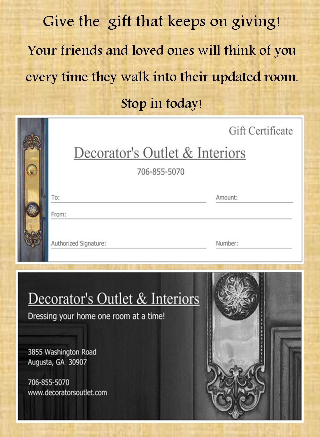 Gift Certificates | About
